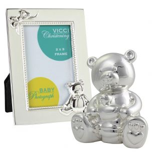 VICCI 53042 Silver Plated Money Box And Photoframe Set